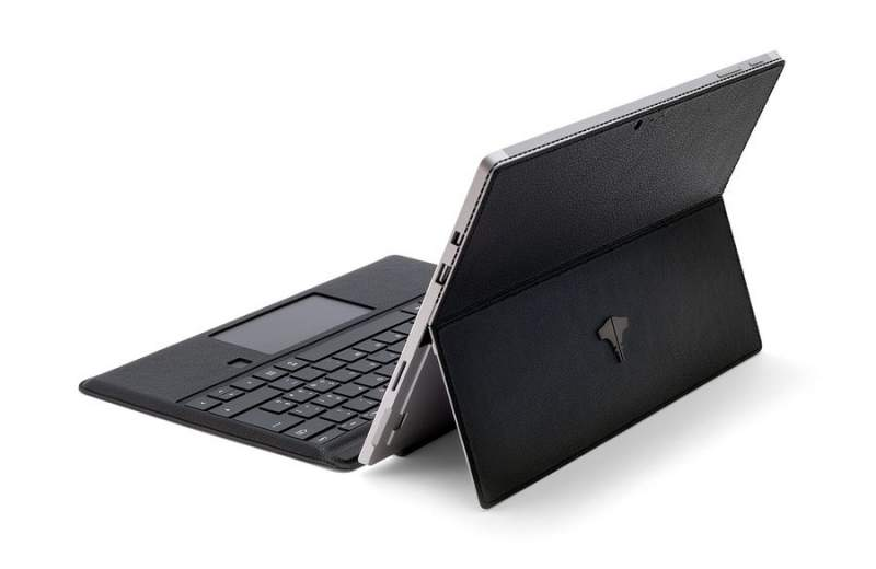 PC & Tablet Real Leather Black