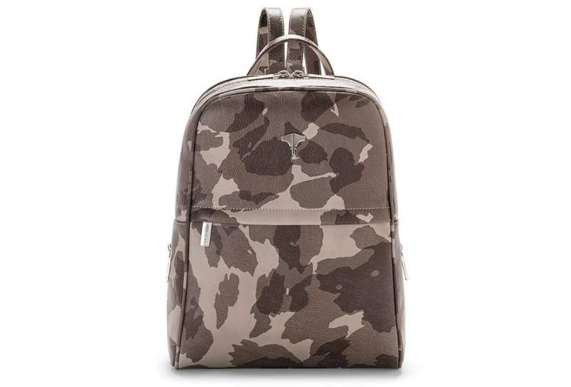 Backpack Real Leather Camouflage Grey