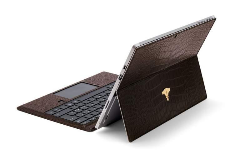 PC Tablet & Crocodile Printed Brown