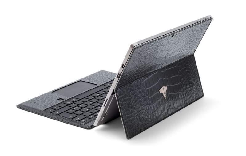 PC Tablet & Crocodile Printed Grey
