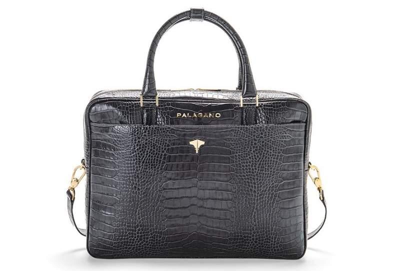 Briefcase Real Crocodile Grey