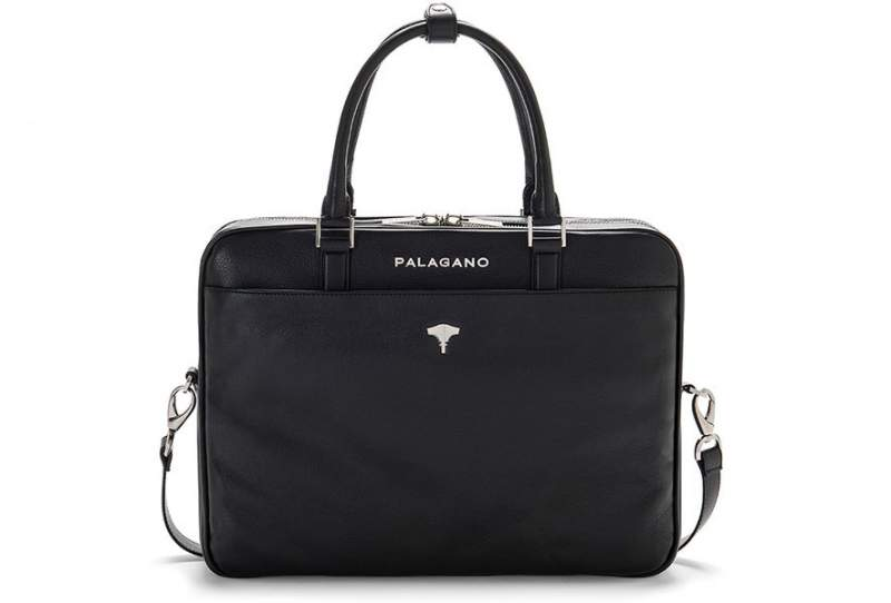 Briefcase Real Leather Black